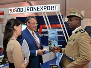 Russian Display Presented by Rosoboronexport at the Shield Africa 2017 Exhibition was greeted with heightened Interest