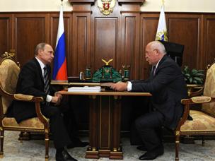 قدم سيرغي شيميزوف تقريراً لفلاديمير بوتين حول التغلب على العقوبات
