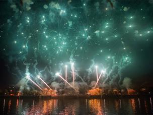 """In Moskau findet das II. Internationale Feuerwerk-Festival """"Rostech"""" statt"""