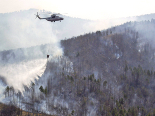 Russian Helicopters equipment helps  fight fires