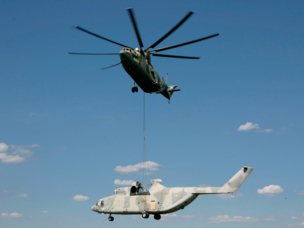 Russian Helicopters MI-26T performs amazing transport feat