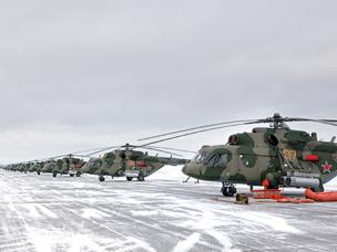 Космические спасатели получили 16 новых вертолетов Ми-8МТВ-5