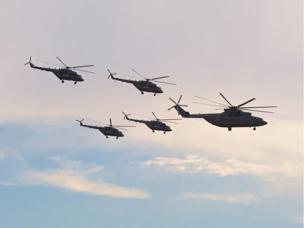 Más de 150 helicópteros de combate serán enviados a clientes extranjeros entre 2016 y 2018