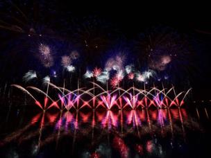 Russland hat den Pokal des internationalen Rostec-Feuerwerksfests gewonnen