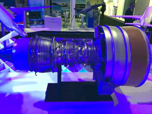 UEC demonstrated its PD-14 engine dummy at Farnborough