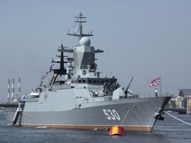 The latest corvette is equipped with electronic warfare systems from KRET