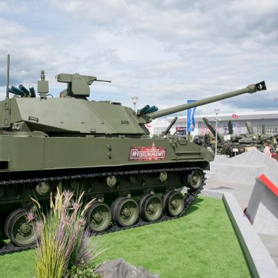 Lotos Self-propelled Artillery Gun Undergoing Preliminary Tests