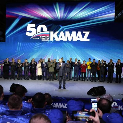Vladimir Putin Congratulated KAMAZ on its 50th Anniversary