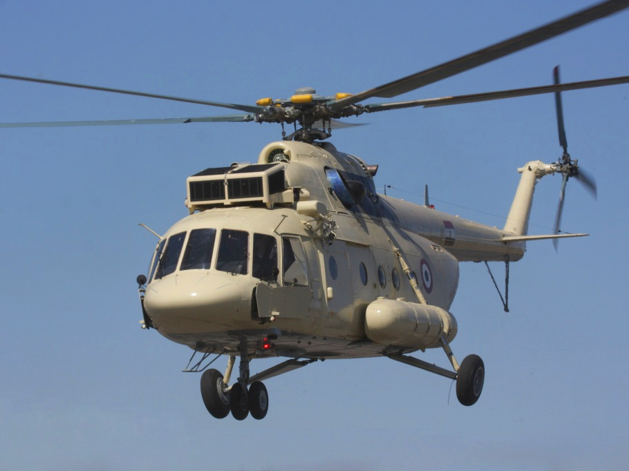 Elicottero Mi 8 : Russian helicopters will overhaul the egyptian based mi