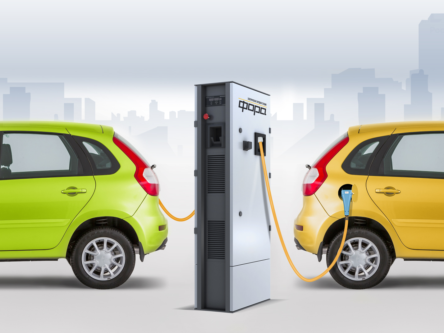 KRET has created a universal charging stations for electric vehicles