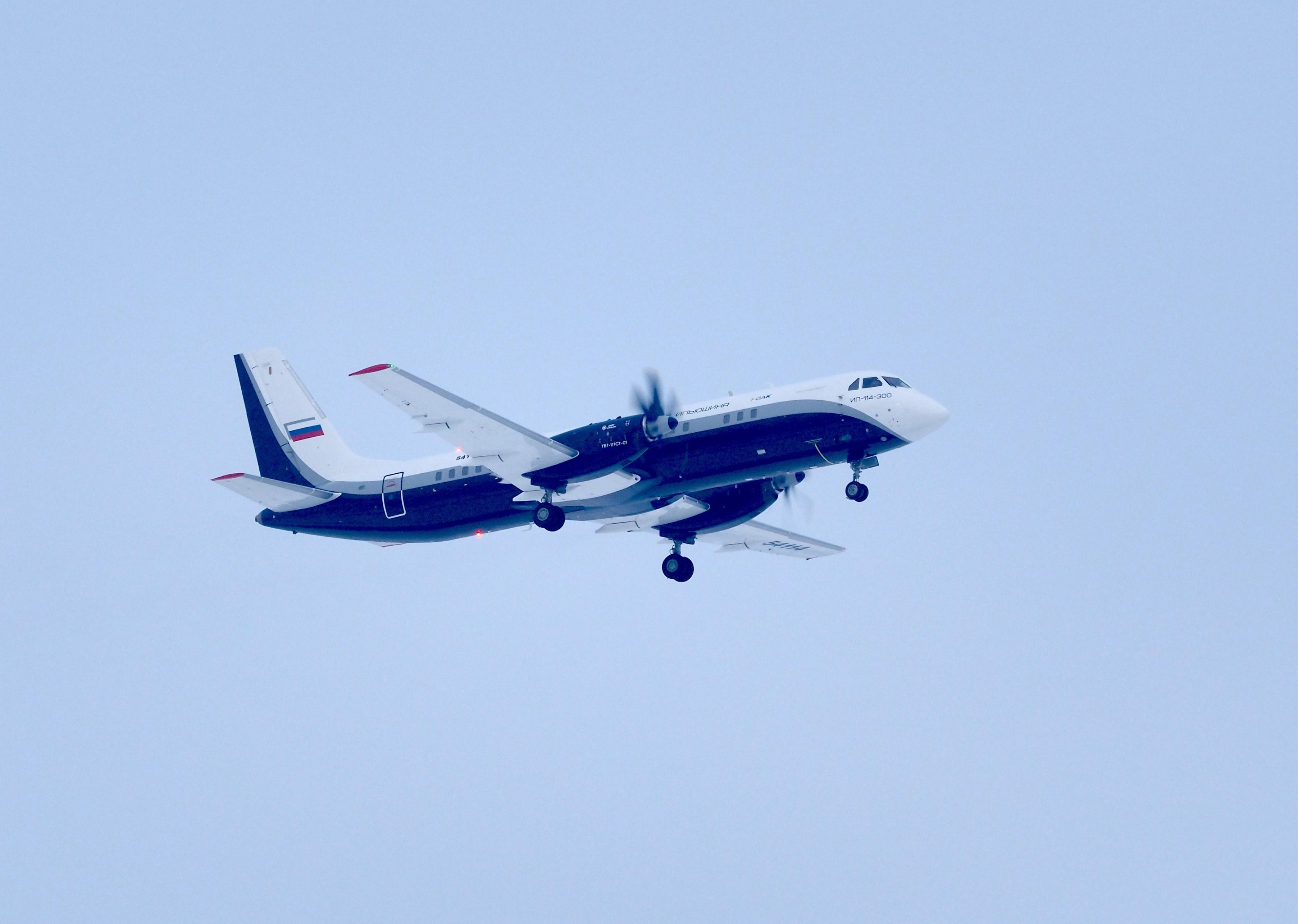Сегодня Ил-114-300 поднялся в воздух во второй раз