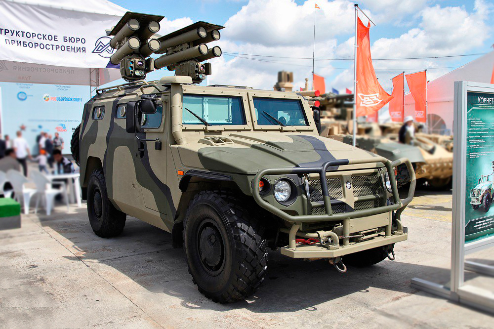 Kornet-EM at Russian Arms Expo 2013