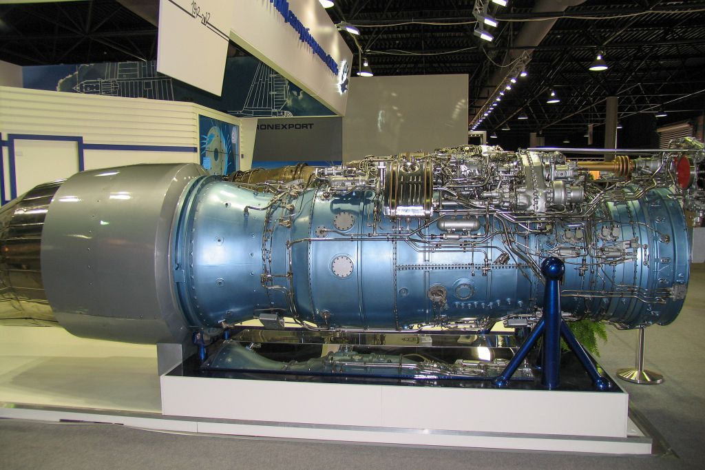 AL_31F_M2_engine_with_thrust_vector_control_at_Engineering_Technologies.jpg